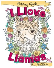 I Love Llamas Coloring Book by Jen Racine